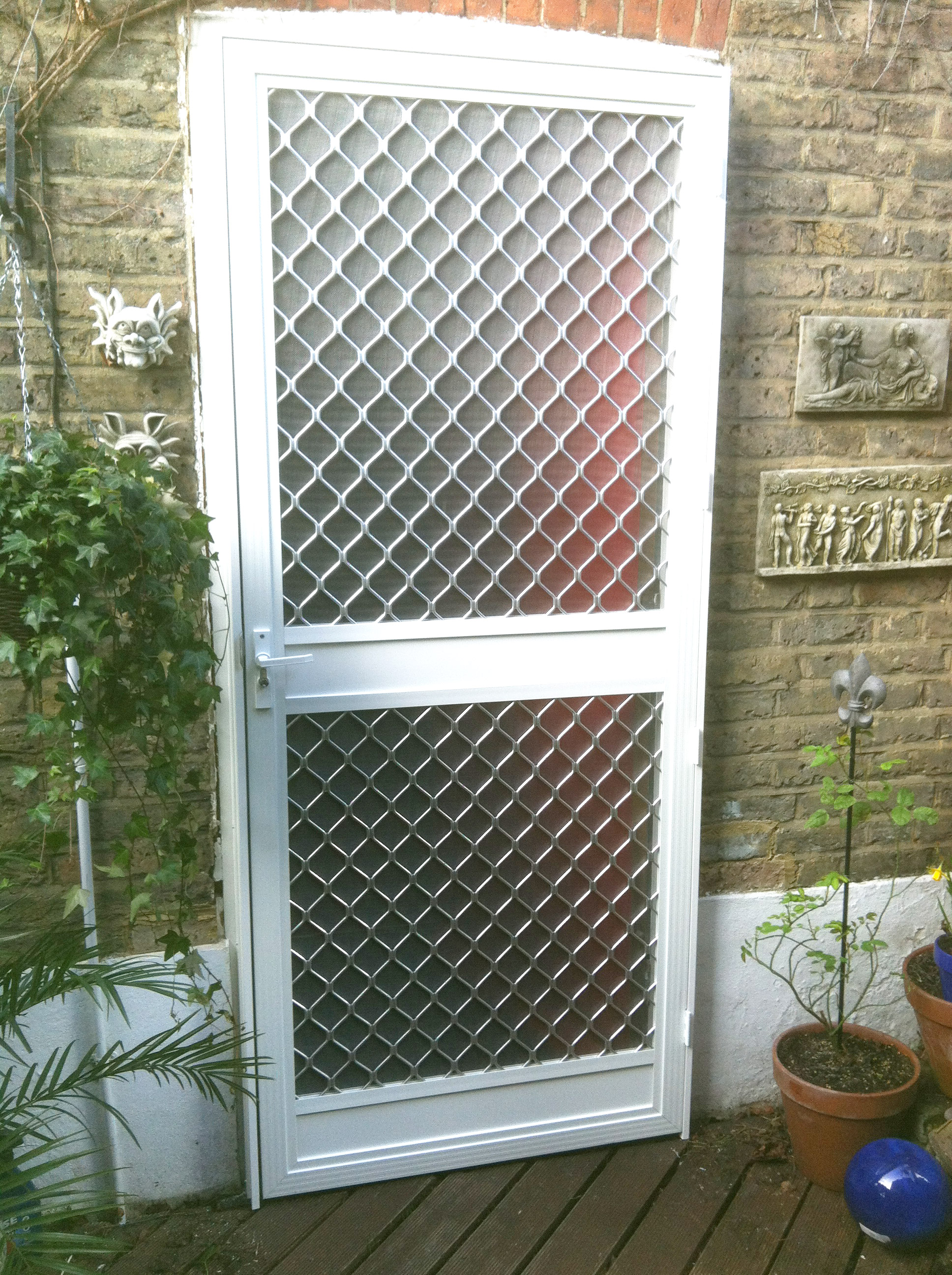 Single Action Insect Screen Security Door ...