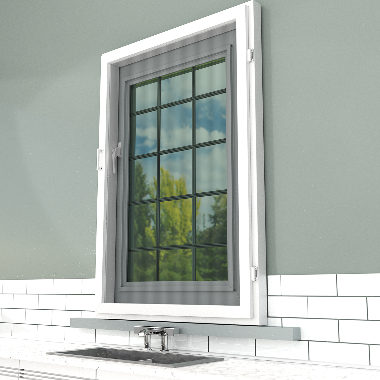 Screen sub frame safety screens uk for Window off screen